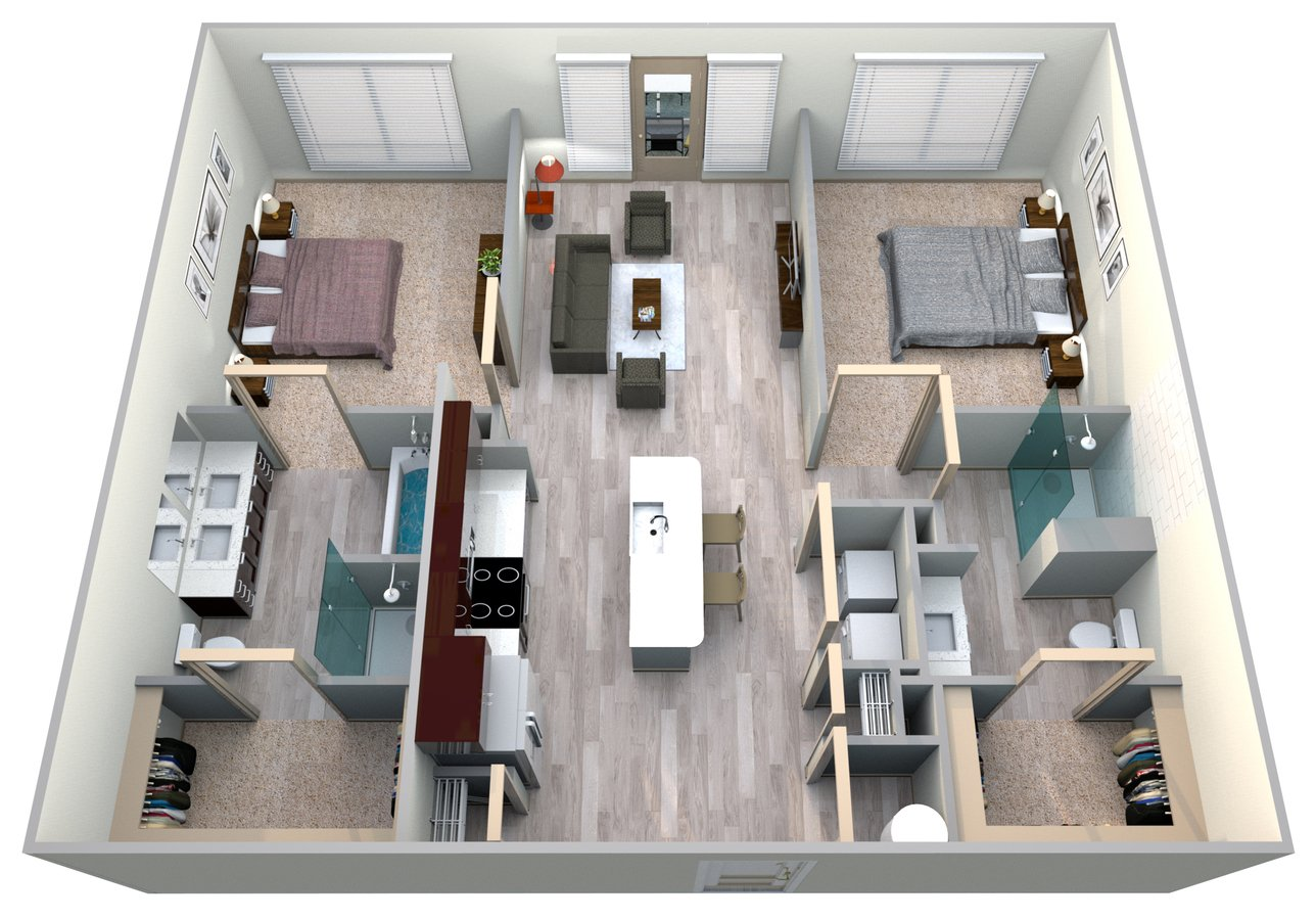 2 Bedrooms 2 Bathrooms Apartment for rent at Azure Houston Apartments in Houston, TX