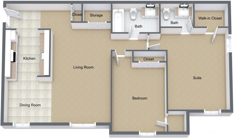 2 Bedrooms 2 Bathrooms Apartment for rent at Fox Lane in Shelby Twp, MI