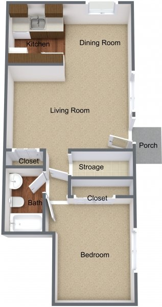 1 Bedroom 1 Bathroom Apartment for rent at Shelby Oaks in Shelby Twp, MI