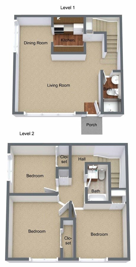 3 Bedrooms 2 Bathrooms Apartment for rent at Shelby Oaks in Shelby Twp, MI