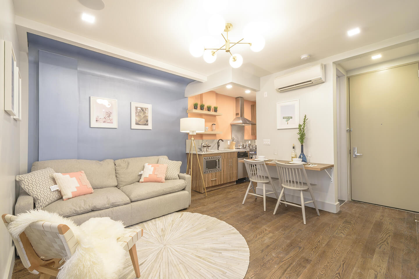 Private Furnished Bedroom In Shared Apartment. Modern 3 Bed 2 Bath, Flexible Lease for rent