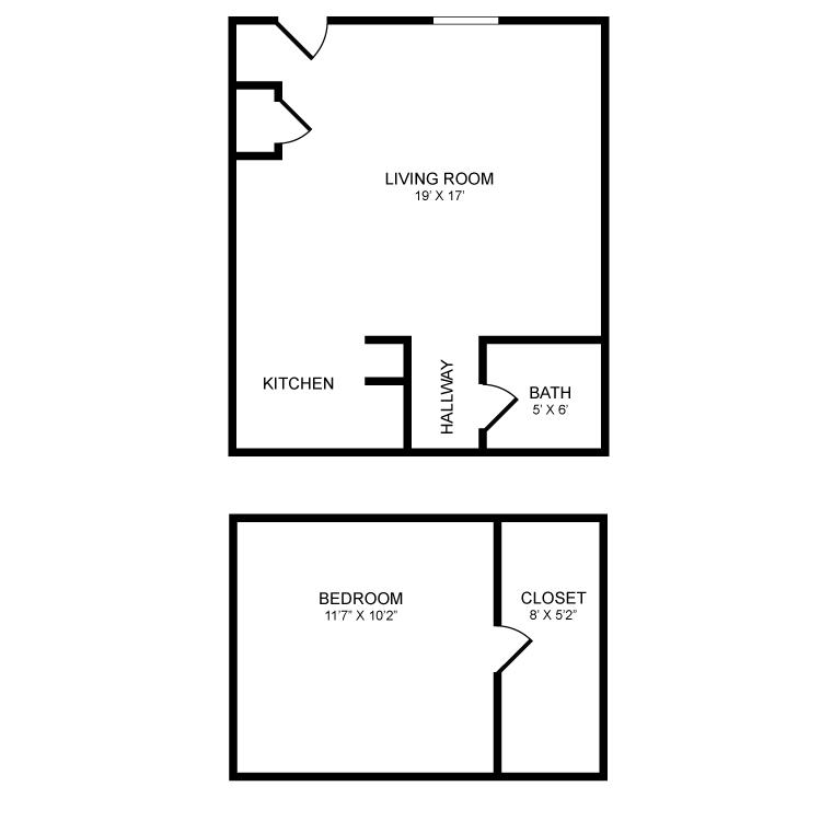 1 Bedroom 1 Bathroom Apartment for rent at Bradford Village in Bradford, VT