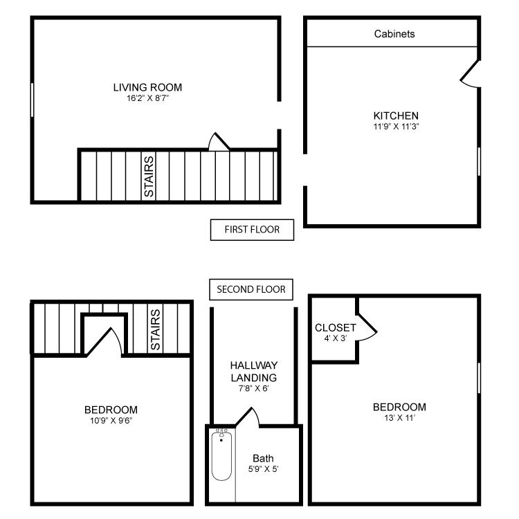 2 Bedrooms 1 Bathroom Apartment for rent at Bradford Village in Bradford, VT