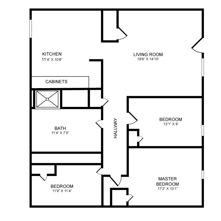3 Bedrooms 1 Bathroom Apartment for rent at Bradford Village in Bradford, VT