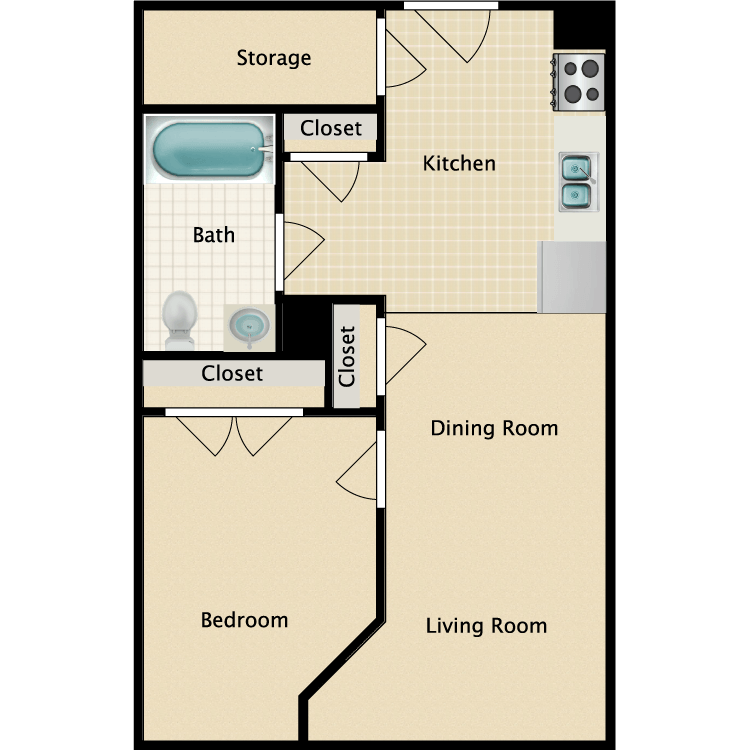 1 Bedroom 1 Bathroom Apartment for rent at Freese's Building in Bangor, ME