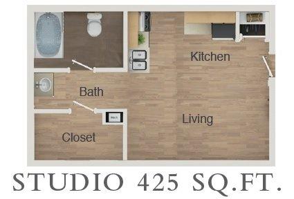 Studio 1 Bathroom Apartment for rent at Morgan Manor Apartments in San Antonio, TX