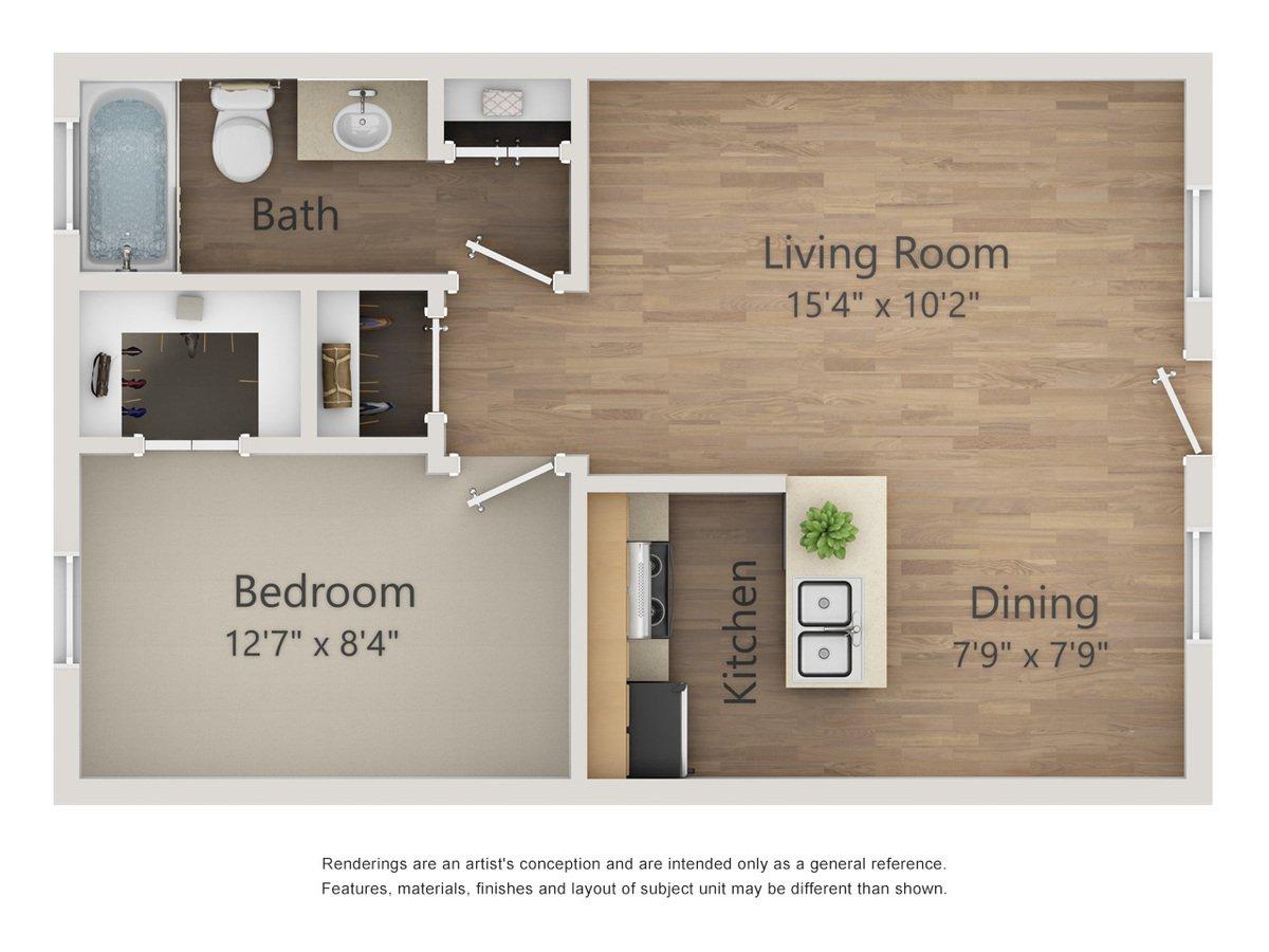 1 Bedroom 1 Bathroom Apartment for rent at Morgan Manor Apartments in San Antonio, TX