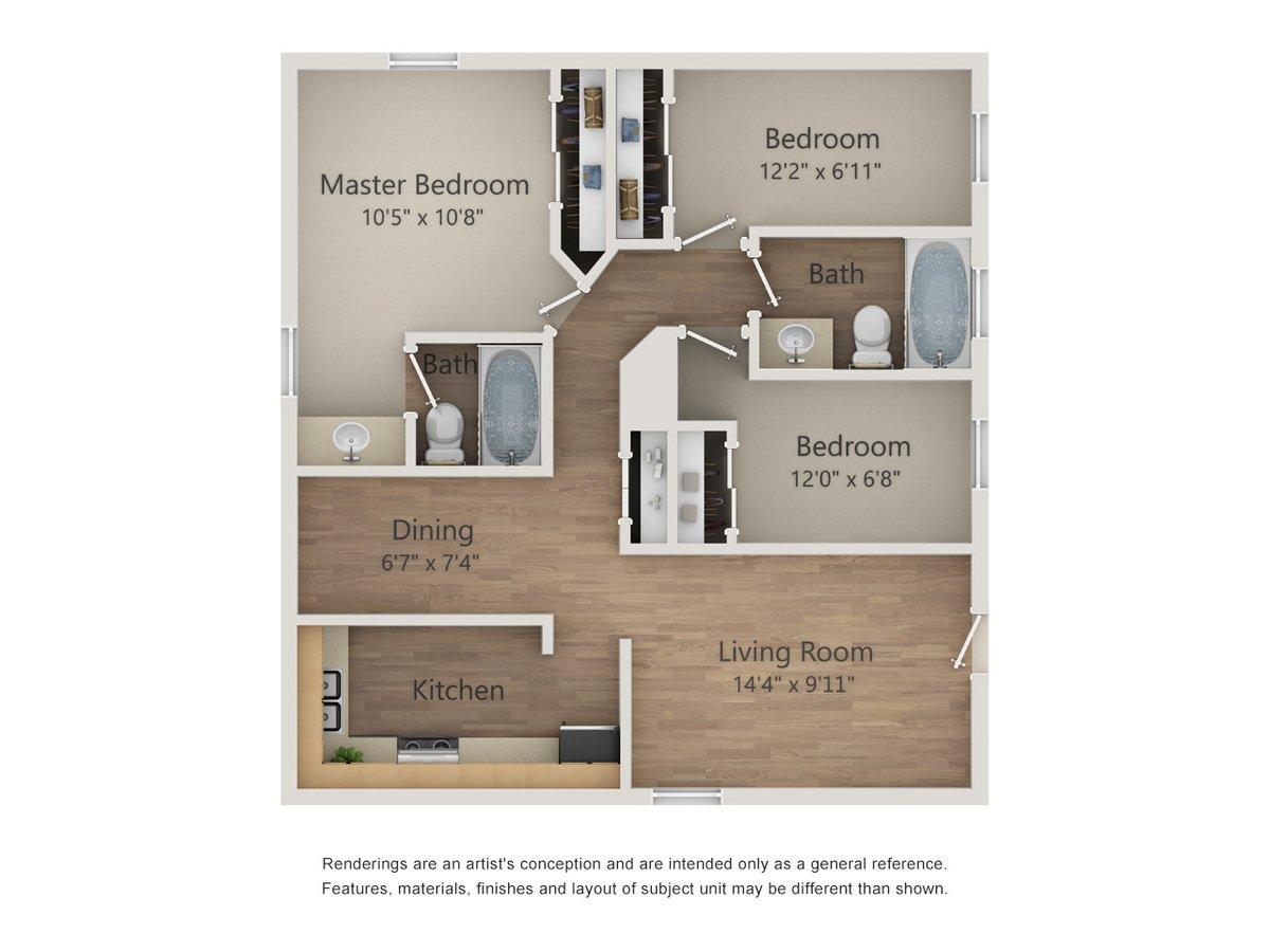 3 Bedrooms 2 Bathrooms Apartment for rent at Morgan Manor Apartments in San Antonio, TX