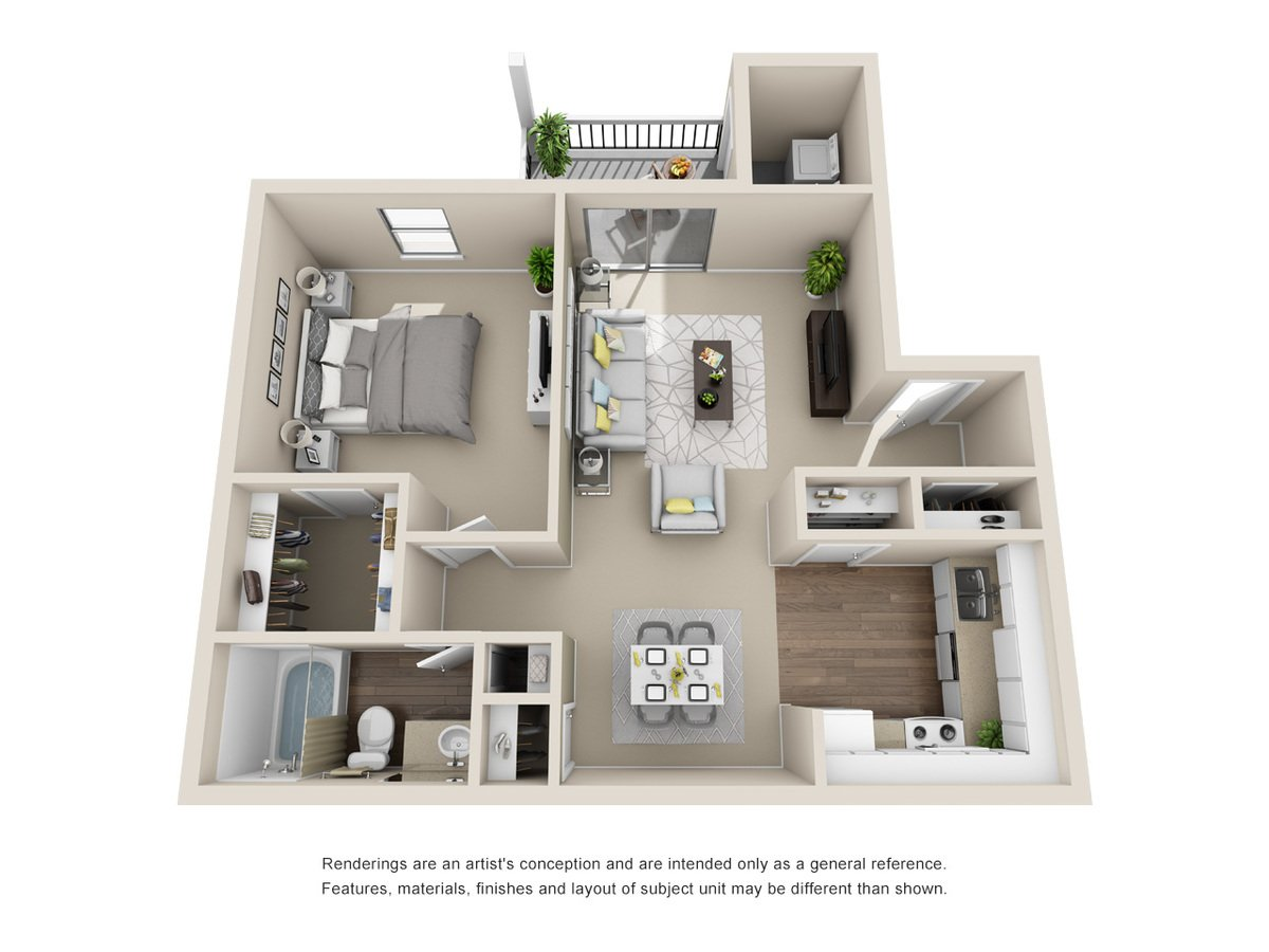 1 Bedroom 1 Bathroom Apartment for rent at Silver Creek Apartments in San Antonio, TX