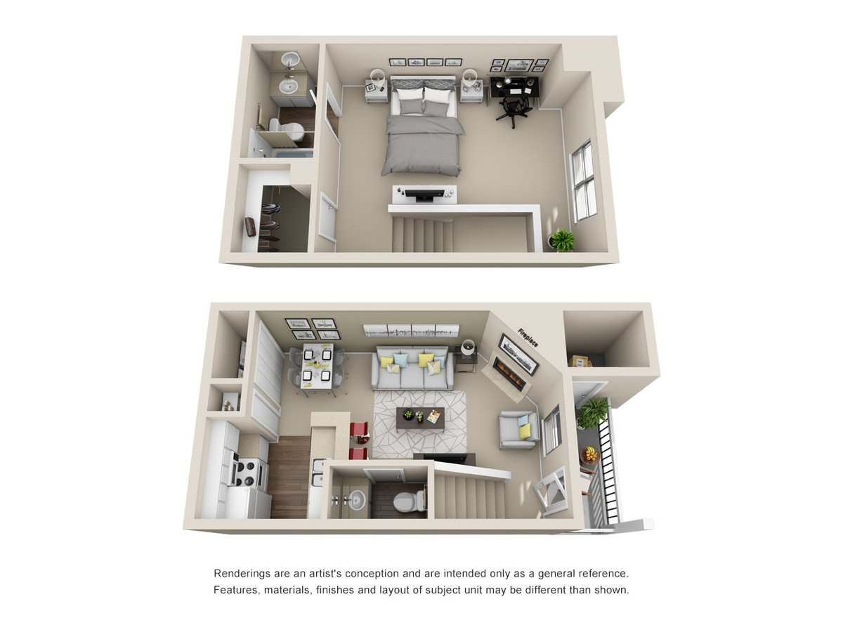 1 Bedroom 2 Bathrooms Apartment for rent at Silver Creek Apartments in San Antonio, TX