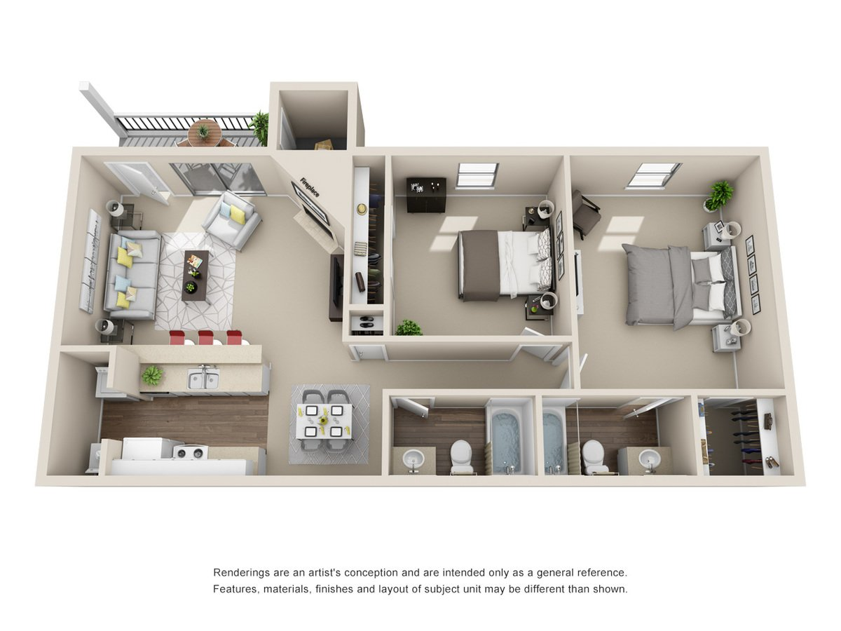 2 Bedrooms 2 Bathrooms Apartment for rent at Silver Creek Apartments in San Antonio, TX