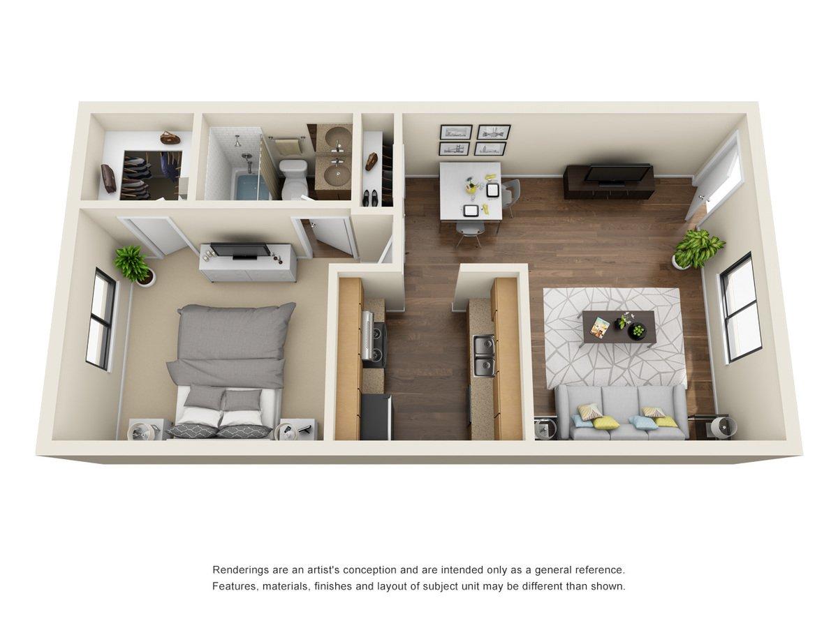 1 Bedroom 1 Bathroom Apartment for rent at Sungate Apartments in San Antonio, TX