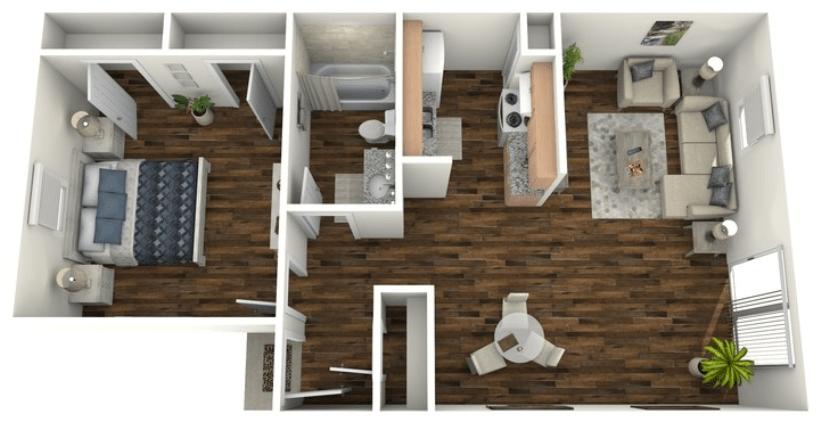 1 Bedroom 1 Bathroom Apartment for rent at San Antonio Station in San Antonio, TX