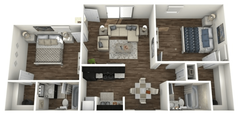 2 Bedrooms 2 Bathrooms Apartment for rent at San Antonio Station in San Antonio, TX