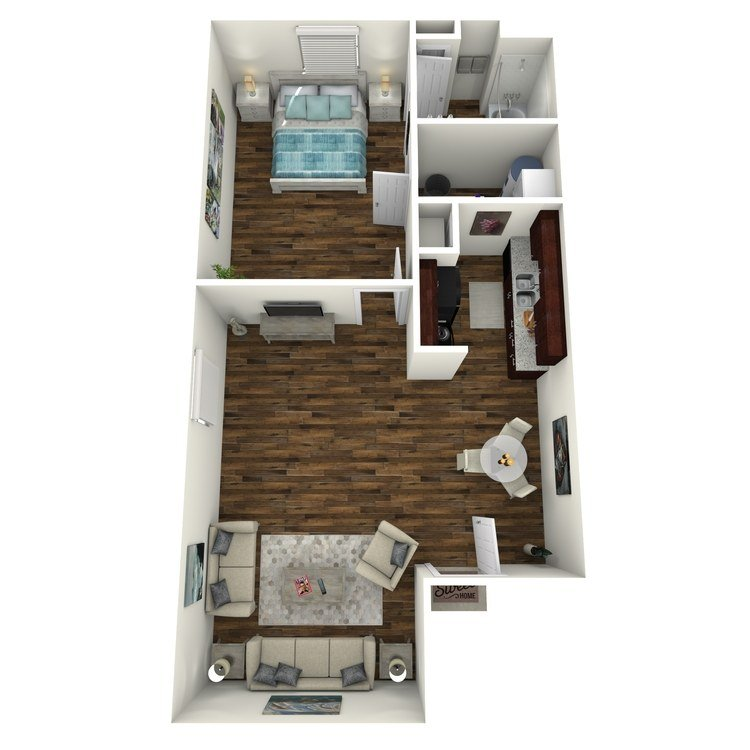 1 Bedroom 1 Bathroom Apartment for rent at Residence At Garden Oaks in Houston, TX