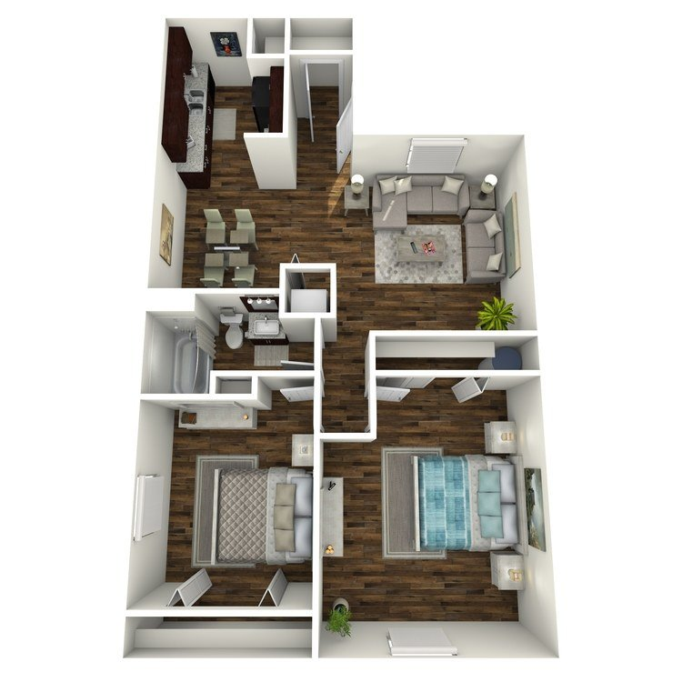 2 Bedrooms 1 Bathroom Apartment for rent at Residence At Garden Oaks in Houston, TX