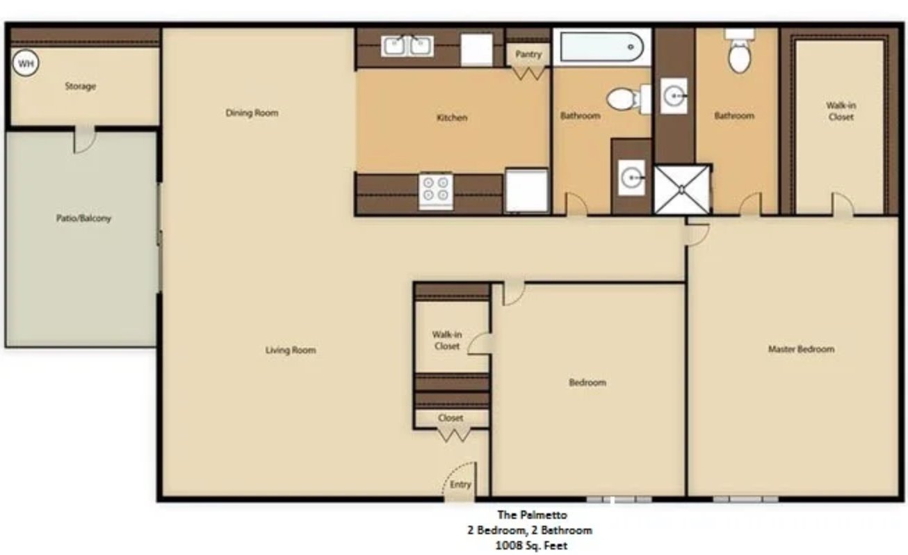 2 Bedrooms 2 Bathrooms Apartment for rent at Glenrosa Park in Phoenix, AZ