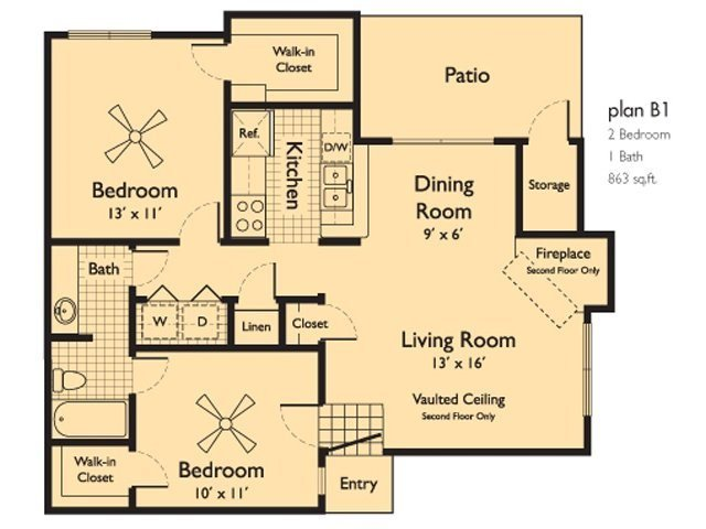 2 Bedrooms 1 Bathroom Apartment for rent at Serafina at South Mountain in Phoenix, AZ