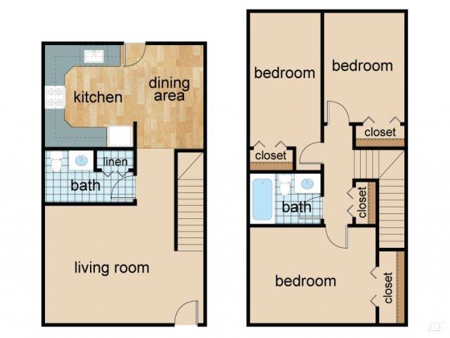 3 Bedrooms 2 Bathrooms Apartment for rent at Villas De Azul Apartments in Phoenix, AZ