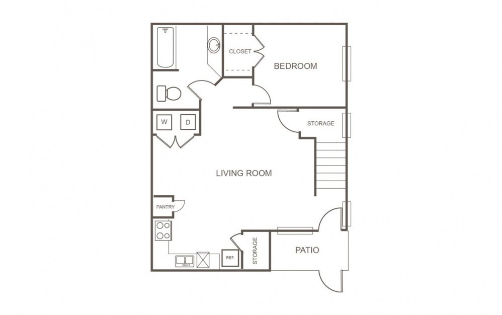 3 Bedrooms 2 Bathrooms Apartment for rent at Fountains At Tidwell in Houston, TX