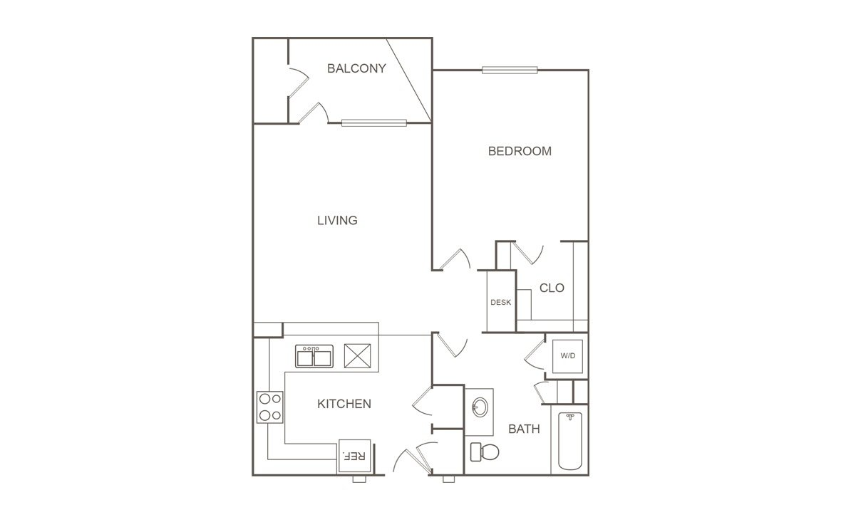 1 Bedroom 1 Bathroom Apartment for rent at Orchard At Garden Oaks in Houston, TX