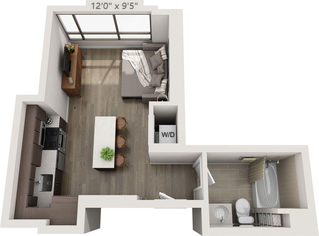 Studio 1 Bathroom Apartment for rent at 150 Van Ness in San Francisco, CA
