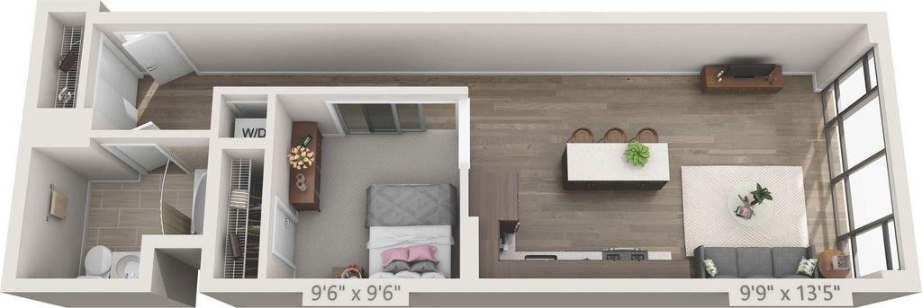 1 Bedroom 1 Bathroom Apartment for rent at 150 Van Ness in San Francisco, CA