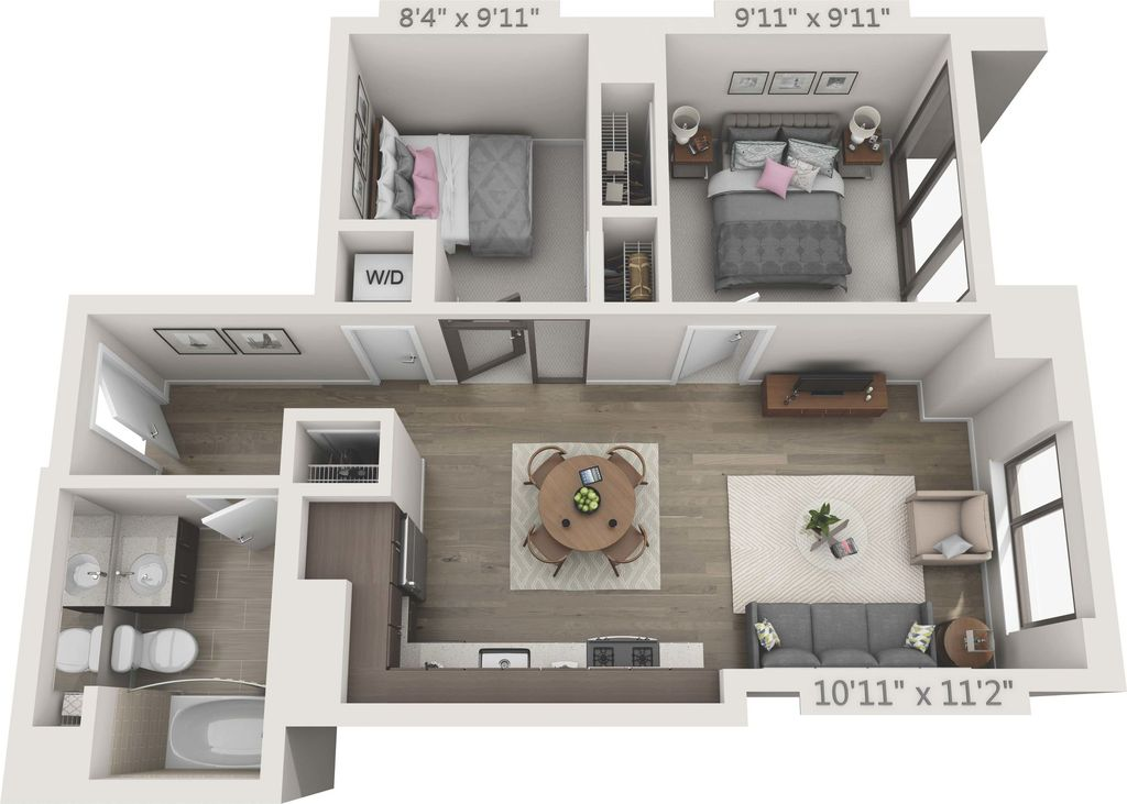 2 Bedrooms 1 Bathroom Apartment for rent at 150 Van Ness in San Francisco, CA