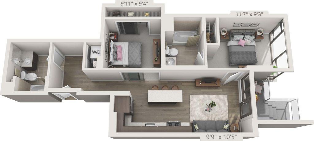 2 Bedrooms 2 Bathrooms Apartment for rent at 150 Van Ness in San Francisco, CA