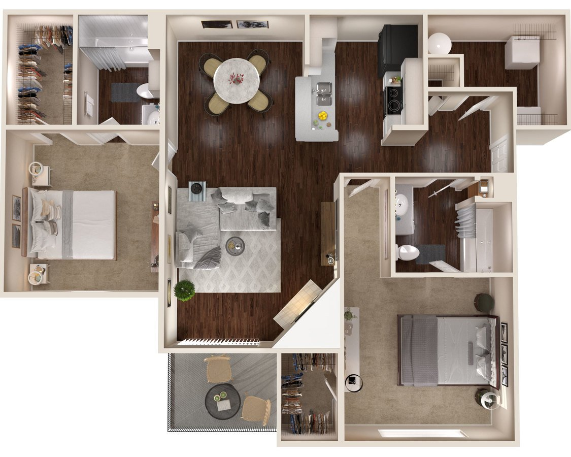 2 Bedrooms 2 Bathrooms Apartment for rent at The Lakes Apartments in Indianapolis, IN