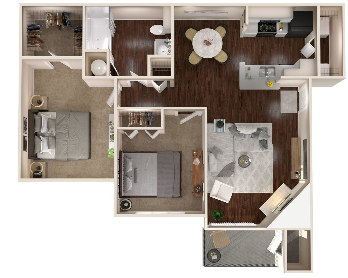 2 Bedrooms 1 Bathroom Apartment for rent at The Lakes Apartments in Indianapolis, IN