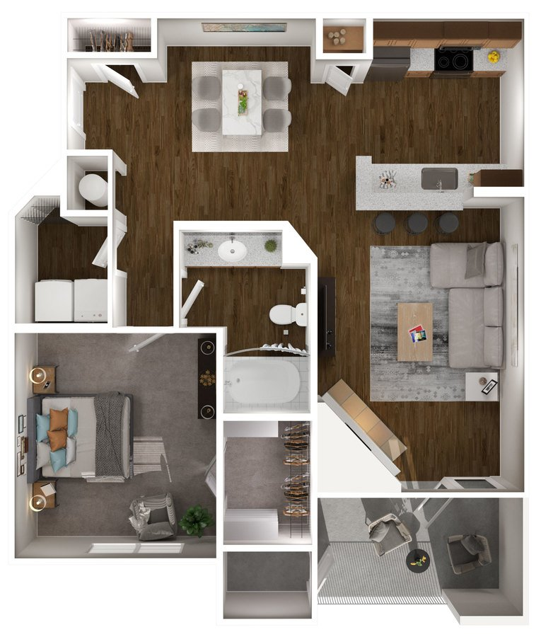 1 Bedroom 1 Bathroom Apartment for rent at Carmel Center Apartments in Carmel, IN