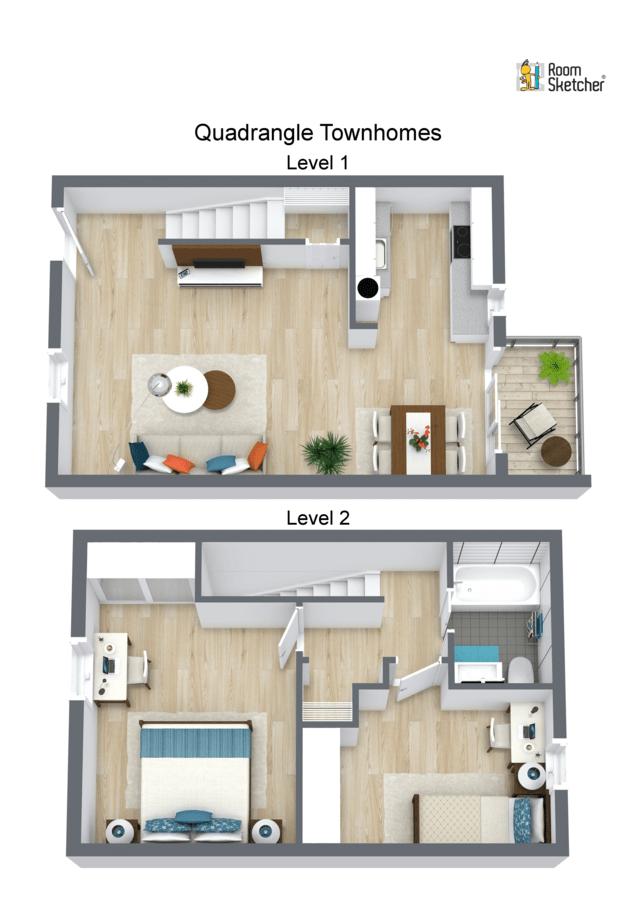 2 Bedrooms 1 Bathroom Apartment for rent at Quadrangle Townhomes in Waynesboro, VA