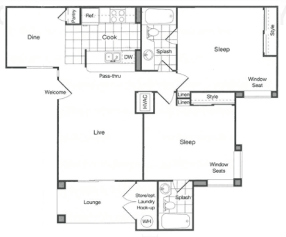 2 Bedrooms 2 Bathrooms Apartment for rent at The James in Riverside, CA