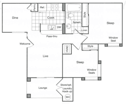 2 Bedrooms 1 Bathroom Apartment for rent at The James in Riverside, CA