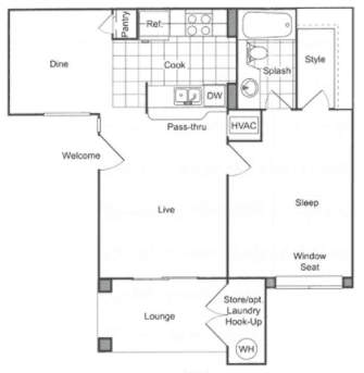 1 Bedroom 1 Bathroom Apartment for rent at The James in Riverside, CA