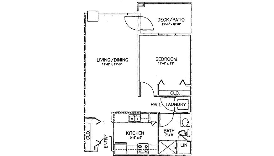 1 Bedroom 1 Bathroom Apartment for rent at Brenwood Park in Franklin, WI