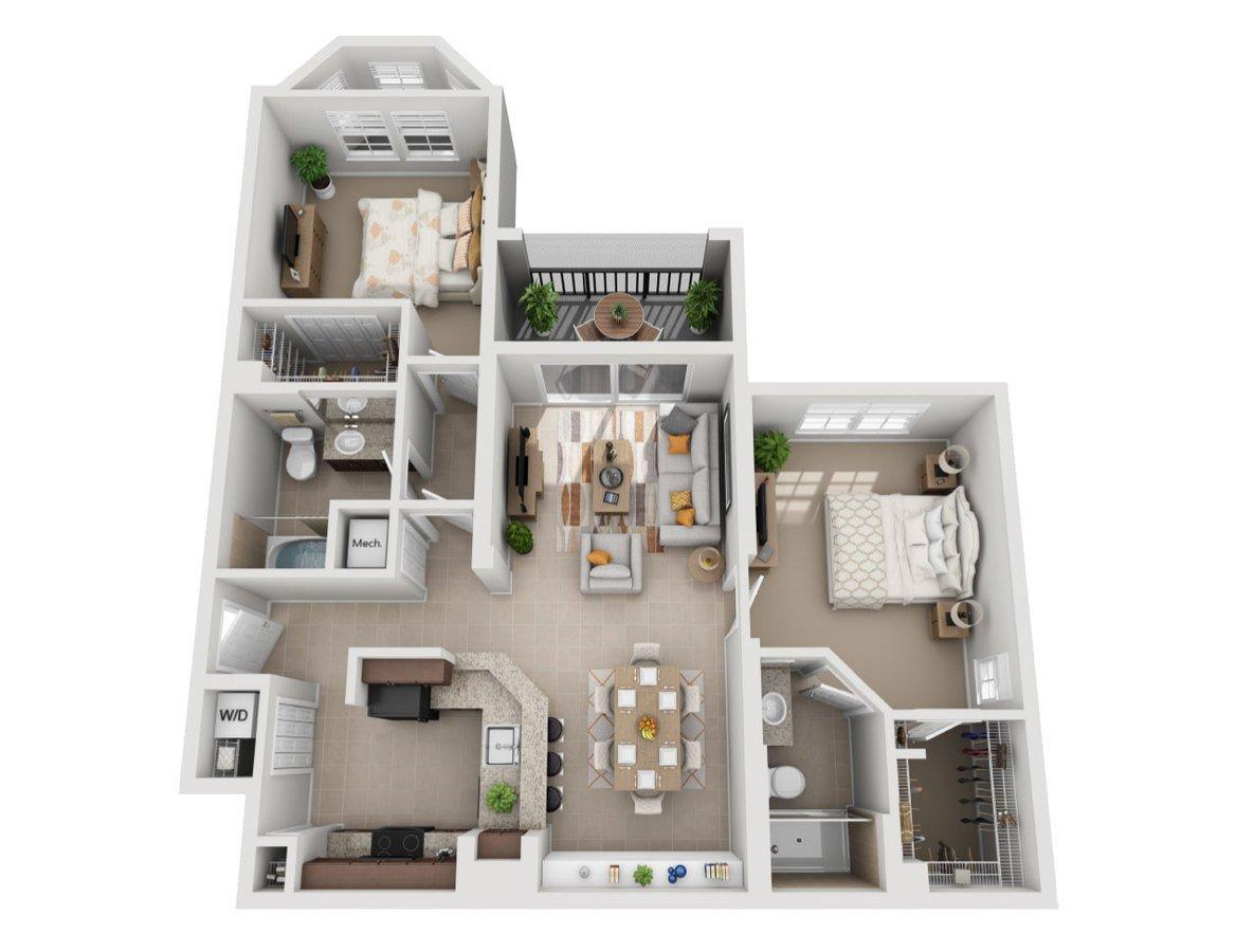 2 Bedrooms 2 Bathrooms Apartment for rent at Sierra Grande Apartments in Naples, FL