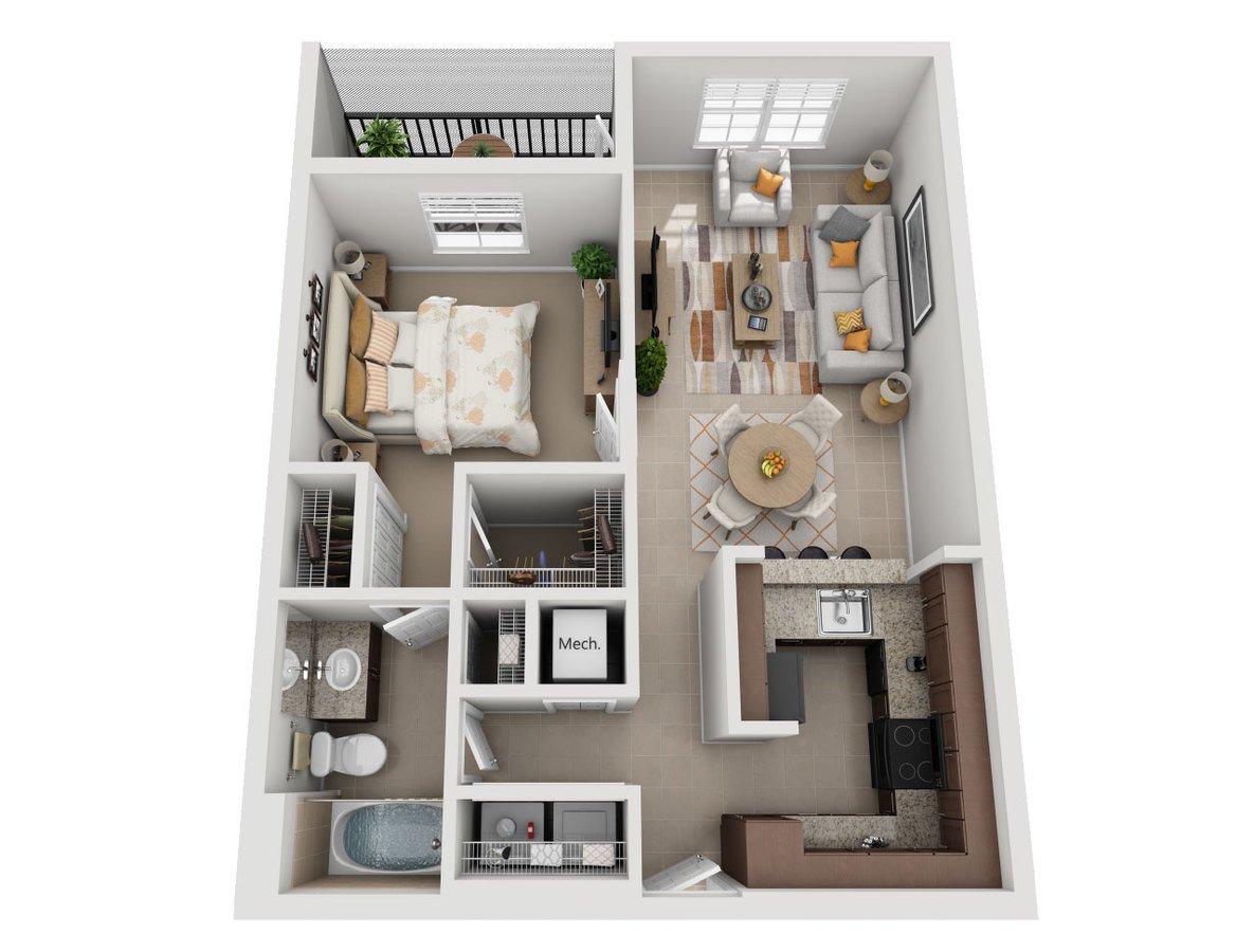1 Bedroom 1 Bathroom Apartment for rent at Sierra Grande Apartments in Naples, FL