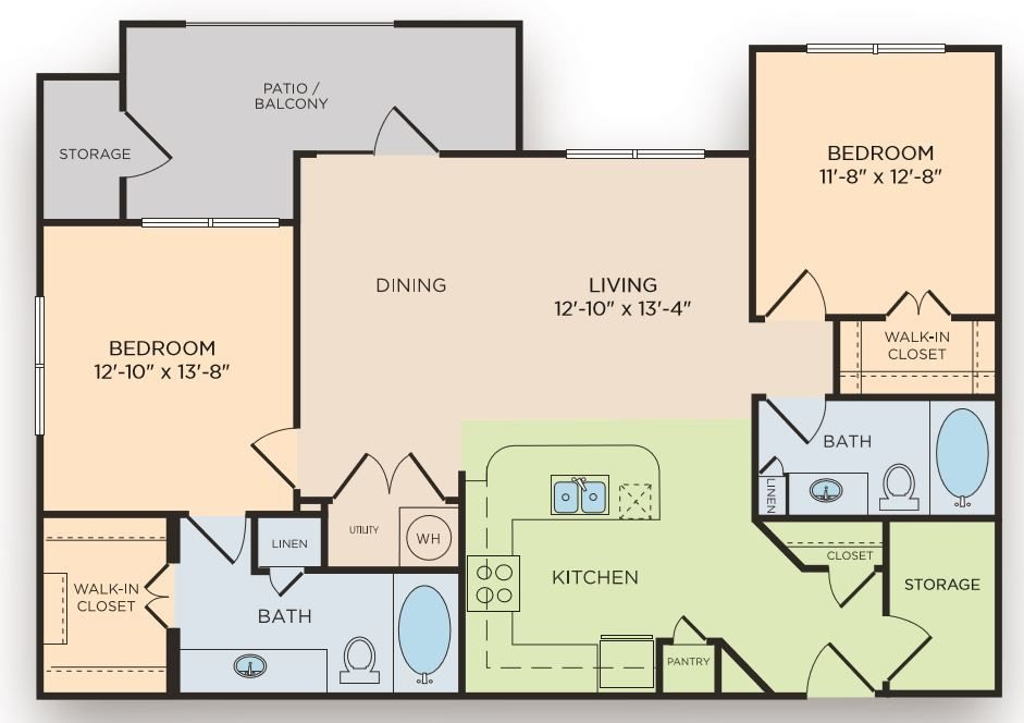 2 Bedrooms 2 Bathrooms Apartment for rent at The Curve At Crescent Pointe in College Station, TX