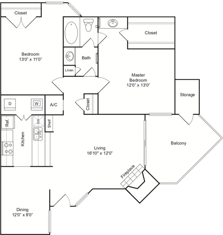 2 Bedrooms 1 Bathroom Apartment for rent at Indigo Apartments in San Antonio, TX