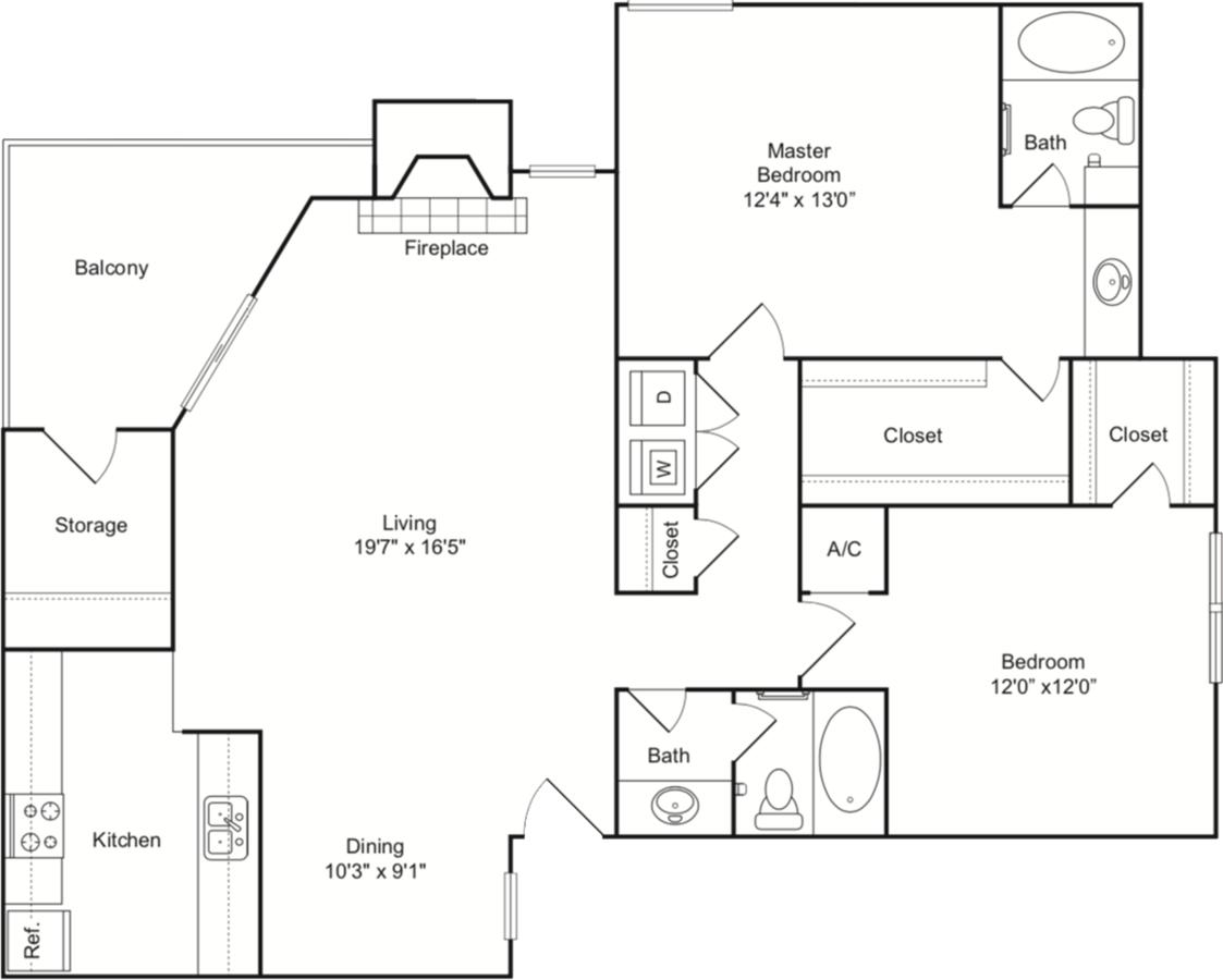 2 Bedrooms 2 Bathrooms Apartment for rent at Indigo Apartments in San Antonio, TX