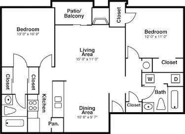 2 Bedrooms 2 Bathrooms Apartment for rent at The Summit in San Antonio, TX