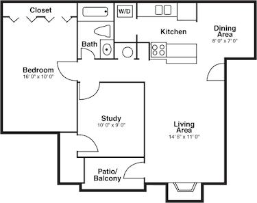 1 Bedroom 1 Bathroom Apartment for rent at The Summit in San Antonio, TX