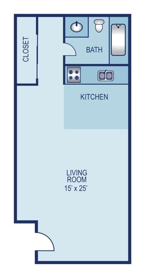Studio 1 Bathroom Apartment for rent at AXIO Apartments in San Antonio, TX