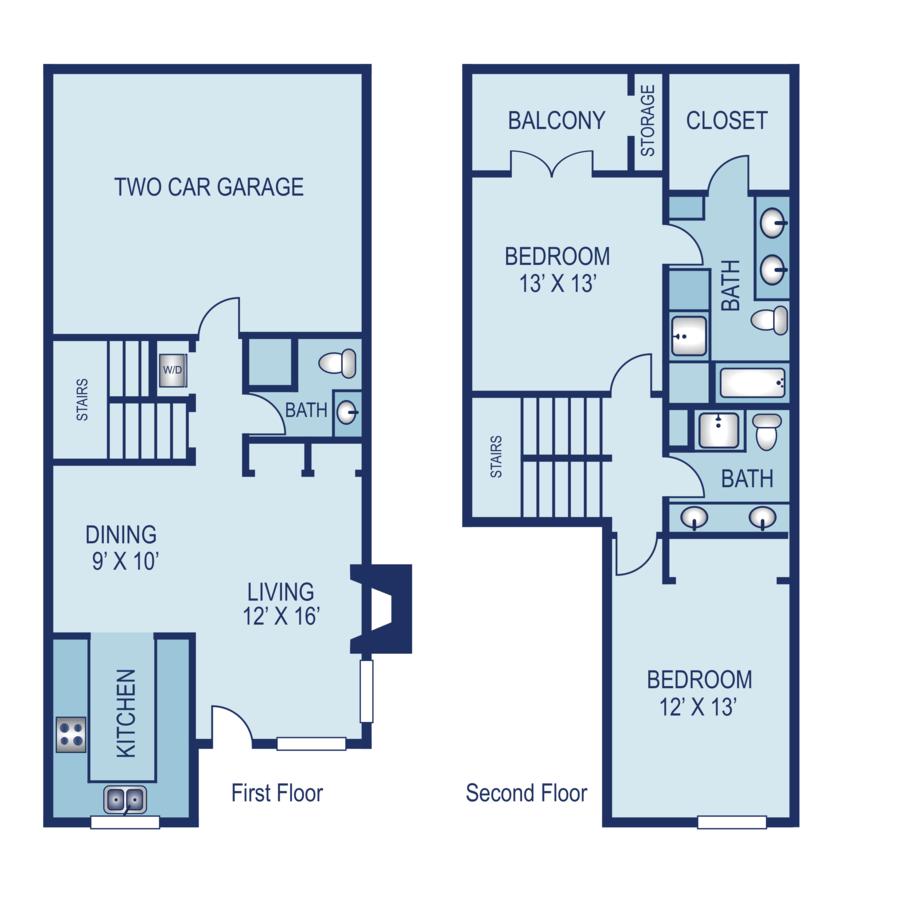 2 Bedrooms 2 Bathrooms Apartment for rent at AXIO Apartments in San Antonio, TX