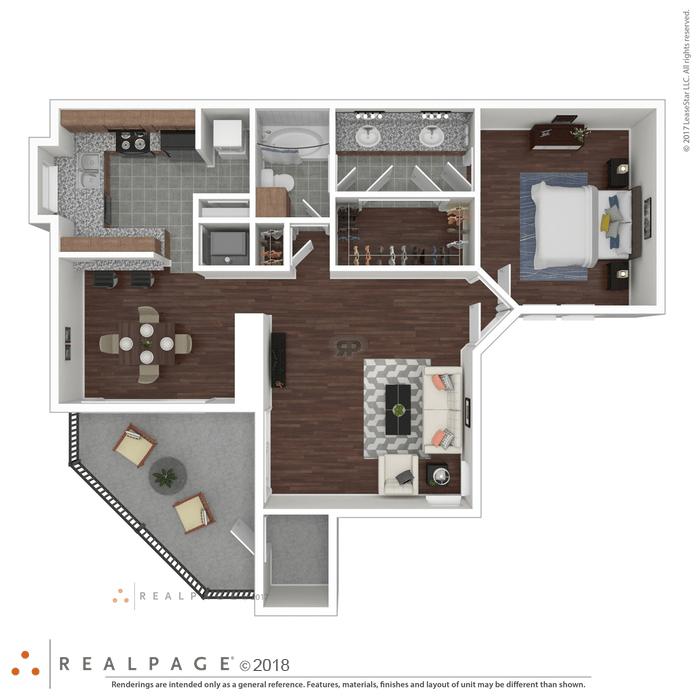1 Bedroom 1 Bathroom Apartment for rent at Indigo Apartments in San Antonio, TX