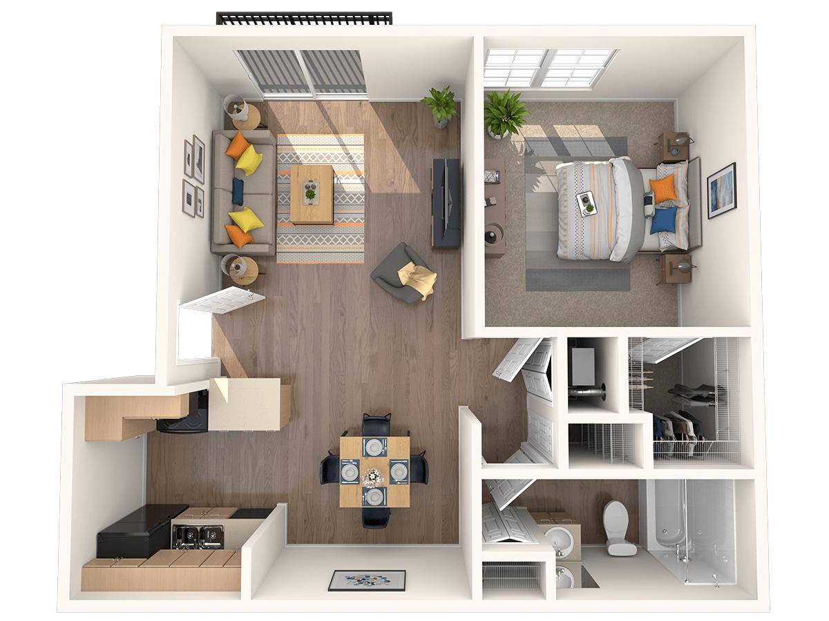 1 Bedroom 1 Bathroom Apartment for rent at Hampden Heights in Denver, CO