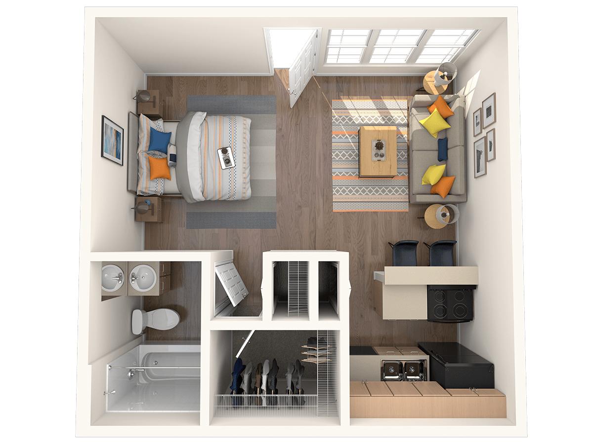 Studio 1 Bathroom Apartment for rent at Hampden Heights in Denver, CO