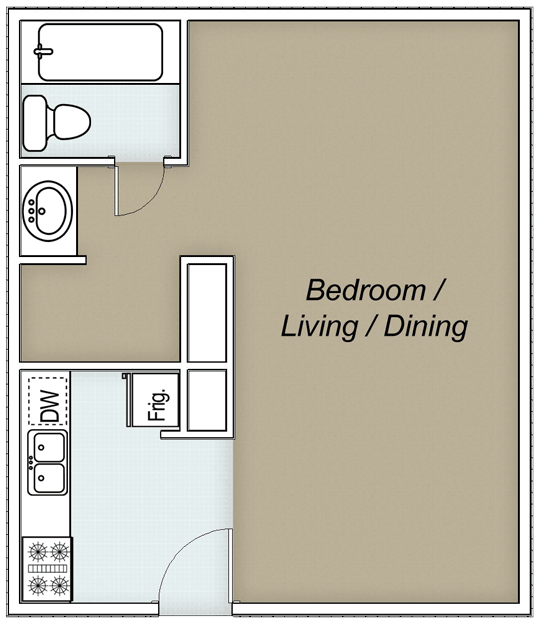 Studio 1 Bathroom Apartment for rent at Landing At Westchase in Houston, TX